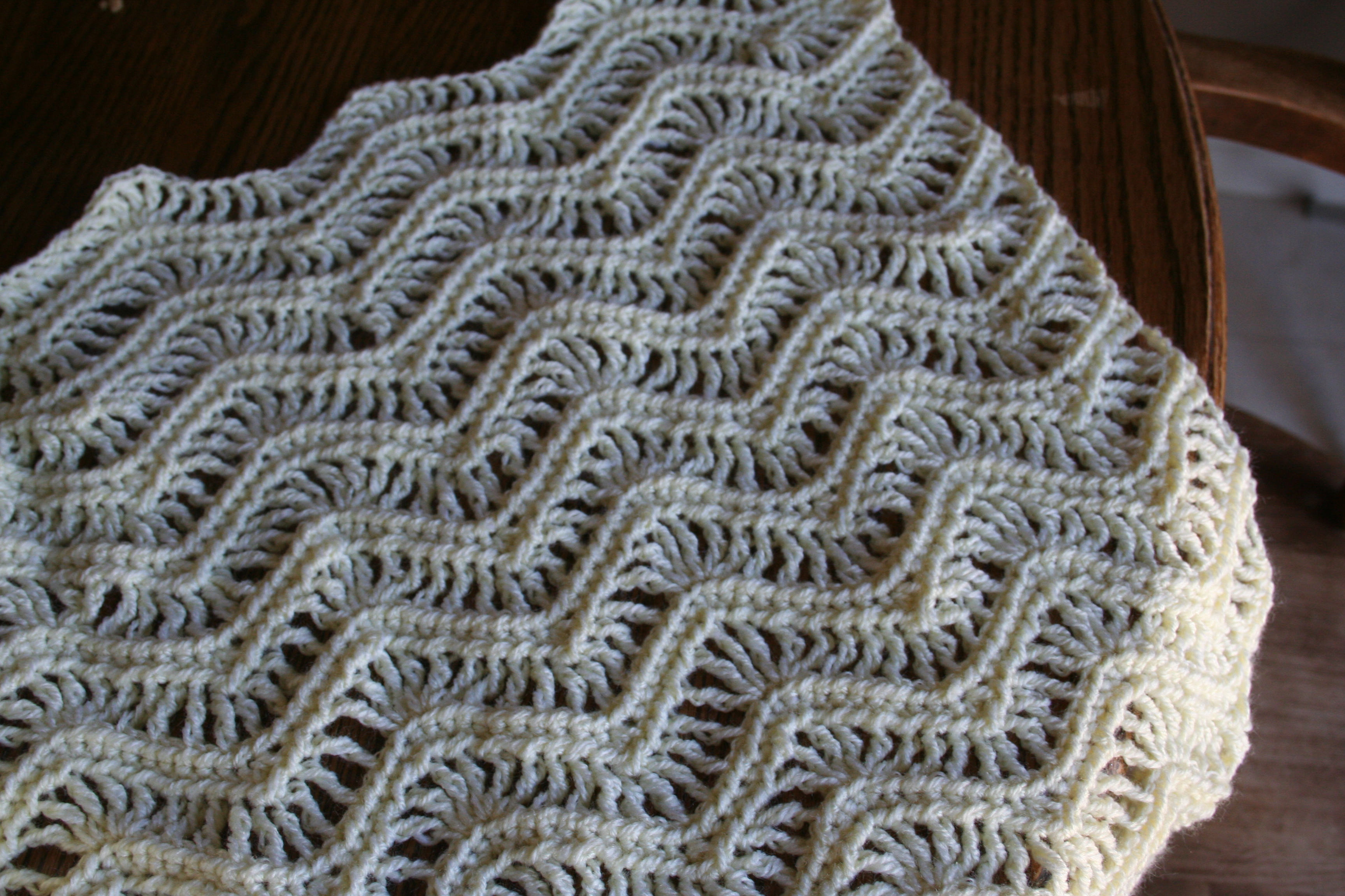 This Blanket Had To Be One Of My Favorites I Was Fun To Learn New Stitches  And Figure Out How To Do A Zig Zag Pattern