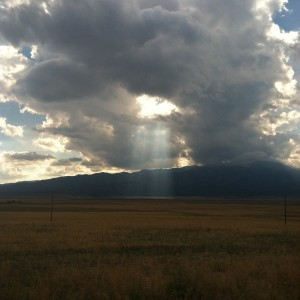 A summer thunder cloud rolling across our valley.